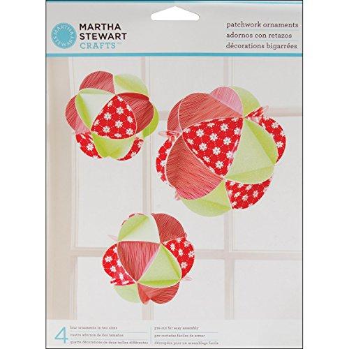 Martha Stewart M4410199 Patchwork Ornament, Holiday Cheer
