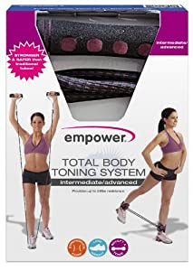 Empower Deluxe Total Body Intermediate/Advanced Toning System, Black/Cranberry