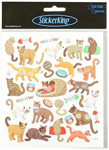 Multi-Colored Stickers-Cats Meow