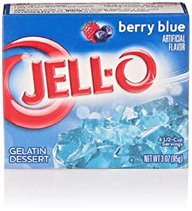 Jell-O Gelatin Dessert, Berry Blue, 3 Oz