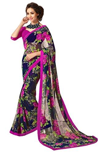 Jaanvi-Fashion-Womens-Chiffon-Saree-dolphin-01Blue