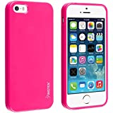 Generic TPU Rubber Skin Case for iPhone 5, Retail Packaging, Hot Pink Jelly