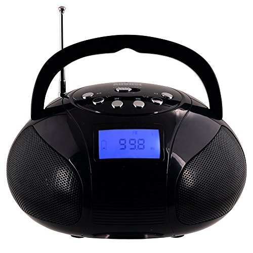 august se20 mini bluetooth radio tragbarer radiowecker und kraftvoller lautsprecher mit sd. Black Bedroom Furniture Sets. Home Design Ideas