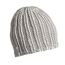 FU-R Headwear - Levon, Hand Knit, Fully Fleece Lined Hat, Platinum