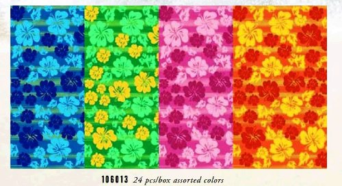 Kaufman - Hibiscus Beach Towel With A Ground Line - 4 Pc Pack - 106013 back-6169