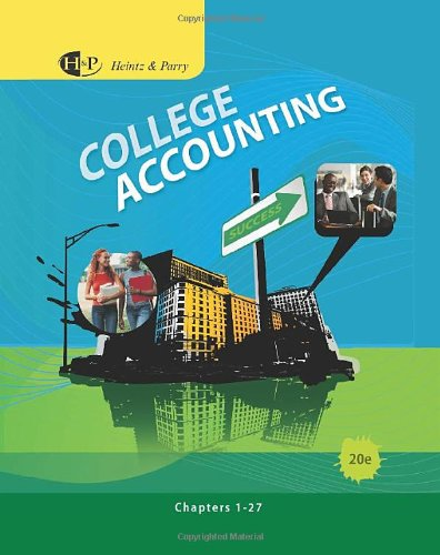 College Accounting, Chapters 1-27 (Available Titles...