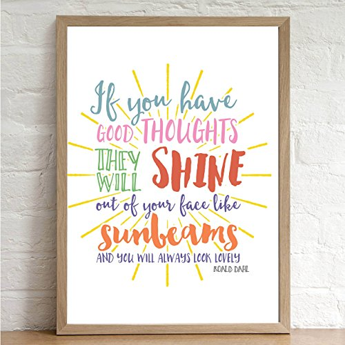 roald-dahl-inspirational-quote-good-thoughts-sunbeams-print