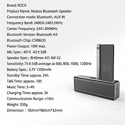Rock Mubox Wireless Speaker