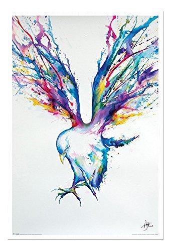 Marc Allante Uccello Art Lavagna Memo In Sughero Con Spillette Bianco Con cornice - 96.5 x 66 cm (Circa 96.5x66cm)
