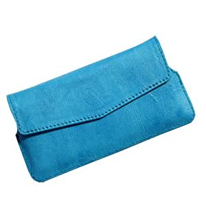 i-KitPit Quality PU Leather Pouch Case With Magnet Closure For Motorola Droid Razr M (SKY BLUE)
