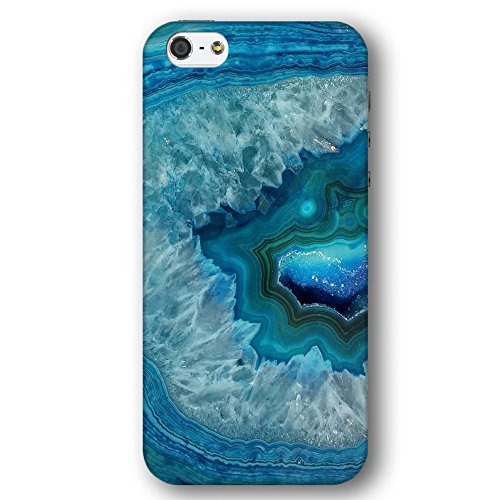 Blue and White Quartz Gemstone Geode Apple iPhone 5 / 5S Phone Case (Iphone 5 Case Gem compare prices)
