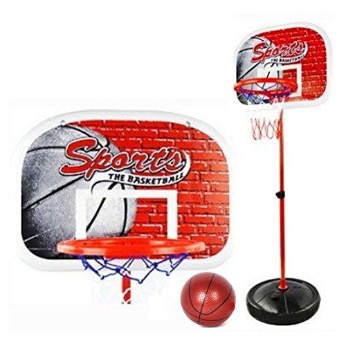 Hipsteen 80-165cm Kinder Basketball Sport beweglicher Rückenbrett Basketball Stand 3 Section höhenverstellbar mit Inflator