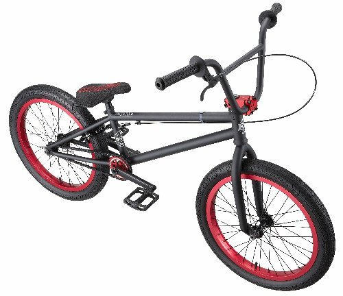 Eastern Bikes Boss BMX Bike (Matte Black with Red, 20-Inch)