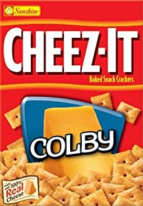 Sunshine, Cheez-It Baked Snack Crackers, Colby, 12.4oz Box (Pack of 4)