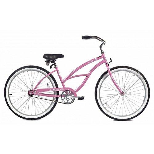 Micargi Pantera Beach Cruiser Bike, Pink, 26-Inch
