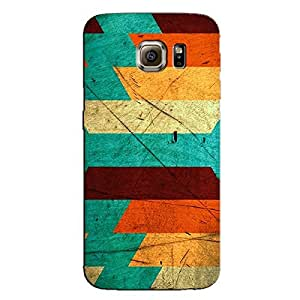 COLORFUL STRIPES BACK COVER FOR SAMSUNG S6