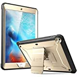 Supcase iPad Case 2018 / 2017, Heavy Duty [Unicorn Beetle PRO Series] Full-body Rugged Protective Case with Built-in Screen Protector & Dual Layer Design for Apple iPad 9.7 inch 2017 / 2018 (Gold)
