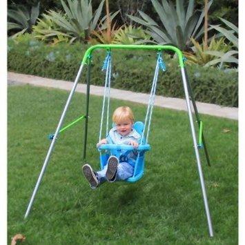 Sportspower my first toddler swing trampoline warehouse for Trampoline porch swing