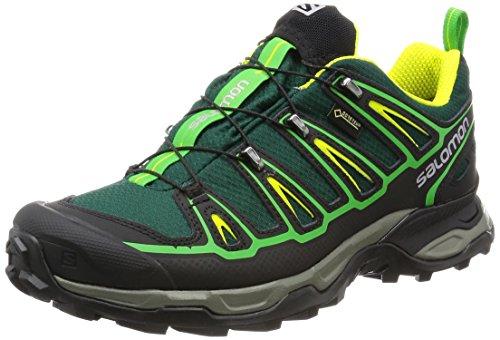 Salomon L39184000, Zapatillas de Senderismo para Hombre, Verde (Green Black...