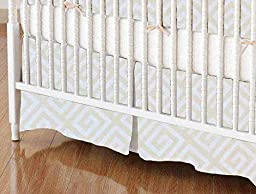 SheetWorld - Crib Skirt (28 x 52) - Geo Cream - Made In USA