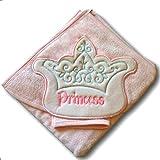 Babyline bebé toalla con capucha (35x 35cm, tamaño grande, color rosa