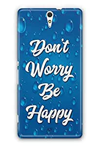YuBingo Don't Worry. Be Happy Designer Mobile Case Back Cover for Sony Xperia C5 Ultra