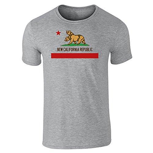 Pop fili da uomo New California Republic Flag a maniche corte maglietta Gray Large