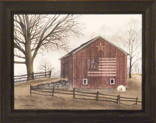 Red Country Wall Decor : Flag barn by billy jacobs ? americana red