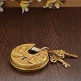 Unravel India Lakshmi Ganesh Brass Lock
