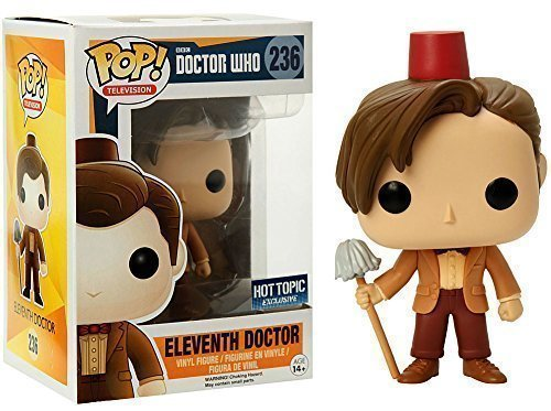 Funko POP TV: Doctor Who Eleventh Doctor Fez Hat & Mop Exclusive Figure, Model: 849803057183, Toys & Play by Kids & Play