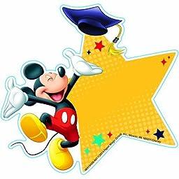 Eureka EU-841340 Mickey Graduation Paper Cut Outs by Unknown