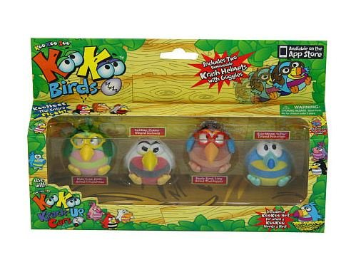 Koo Koo Birds 4 Pack (Lollapalooza, Scalawag, Mudskipper, and Dooselfink)