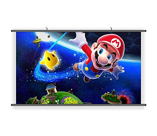 POSTUP Super Mario Brothers Hanging Wall Scoll Fabric Decorative Horizontal Poster (21.6