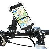 1byone-Fahrrad-Handyhalterung-Halterung-am-Lenker-fr-Smartphones-und-GPS-Gerte-Einfacher-Anbau-Stabil-und-gut-geschtzt-Farbe-Schwarz