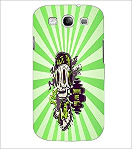 PrintDhaba Music Skull D-5851 Back Case Cover for SAMSUNG GALAXY S3 (Multi-Coloured)