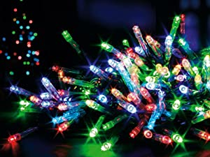 100 Multi Coloured LED Battery Operated Christmas Lights