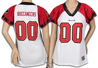 Tampa Bay Buccaneers NFL Ladies Team Field Flirt Fashion Jersey, White by Reebok