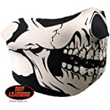 Hot Leathers Neoprene Skull Half Mask (Black)