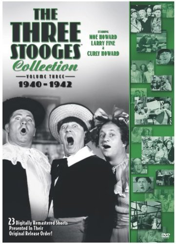 The Three Stooge Collection volume 3 : 1940-142 starring Moe Howard, Larry Fine, Curly Howard