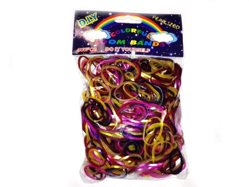 WeGlow International Colorful Loom Bands (1,200 Loops and 50 S-Clips), Pearlized Assorted Colors