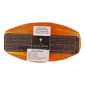 Spa Ceylon Luxury Ayurveda Lotus & Saffron Cleansing Bar,70gr