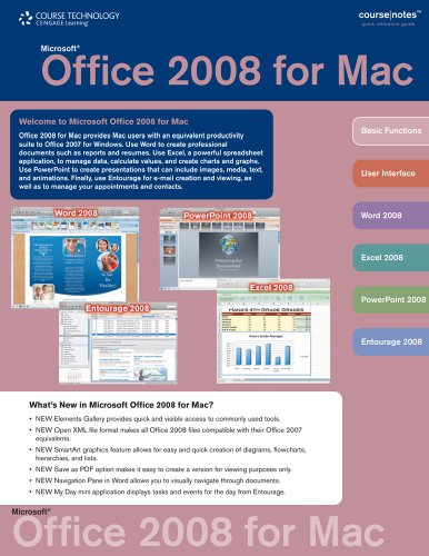 Office 2008 for Mac CourseNotes