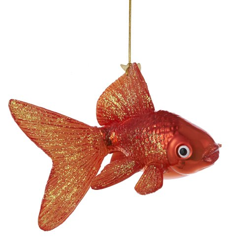 Kurt Adler Noble Gems Glass Goldfish Ornament, 5-Inch