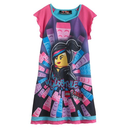 Lego Movie Wyldstyle Girls Nightgown Size 10/12 back-119541