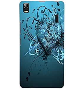 LENOVO A7000 HEART Back Cover by PRINTSWAG