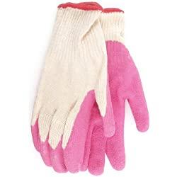 Boss Gloves 8423SPK3 Lady's Flexi Grip Latex Palm Gloves with Knit Wrist, Small, Pink (Pack of 3)