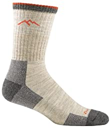 Darn Tough Vermont Men's Merino Wool Micro Crew Cushion Hiking Socks, Oatmeal, X-Large(12.5+)
