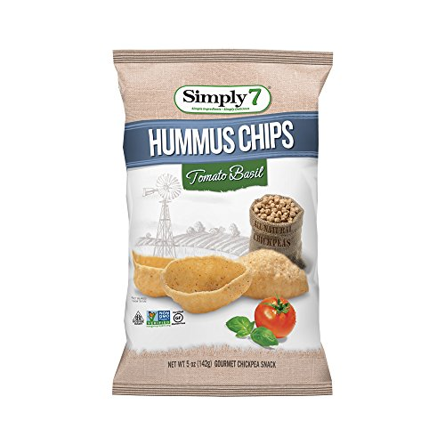 Simply7 Hummus Chips, Tomato Basil, 5 Ounce (Pack of 12) (Pop Chips Tomato compare prices)