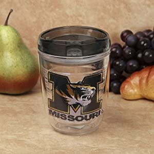 Buy NCAA Missouri Tigers 12-Ounce Slimline Tumbler with Color Lid by Hunter