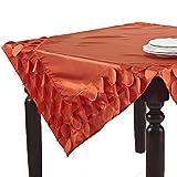 SARO LIFESTYLE 820 1-Piece La Molina Square Tablecloth, 60-Inch, Tangerine